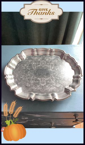 Footed silver plated try by Eales for Sale in San Antonio, TX