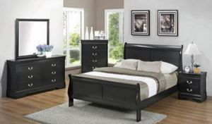 4-Pcs Queen size bedroom set. Available in different colors. $53 DOWN PAYMENT for Sale in Orlando, FL