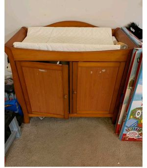Wooden Changing table cabinet for Sale in Williamstown, NJ