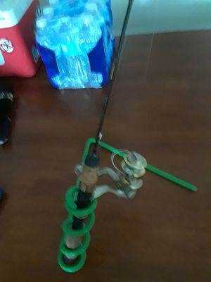 Ht gold ice fishing rod,and rod holder for Sale in Port Washington, WI