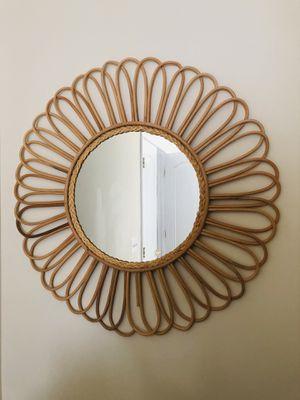 Boho Wooden Wall Mirror for Sale in Manassas Park, VA