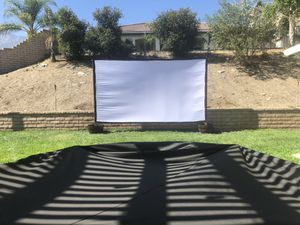200 inch projector screen for Sale in Rancho Cucamonga, CA