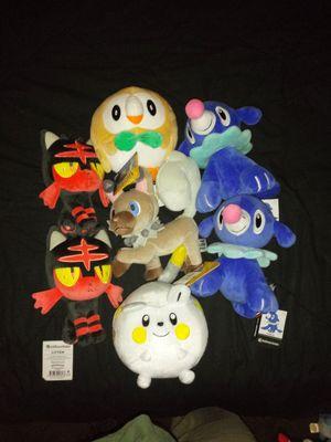 Gen 7 pokemon plushies for Sale in Bowie, MD