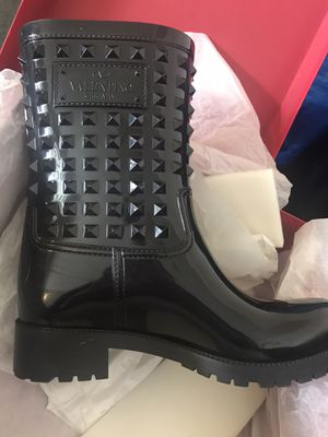 Valentino Rockstud black rain boots for Sale in Riverside, CA