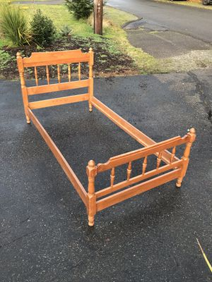 Two antique cherry wood twin size beds $100 each for Sale in University Place, WA