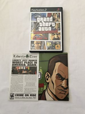 Ps2 Game:Grand Theft Auto Liberty City Stories Complete Disc Like New for Sale in Reedley, CA