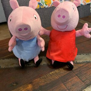 Peppa & George Dolls / Stuffed Animals Battery Operated for Sale in Turlock, CA