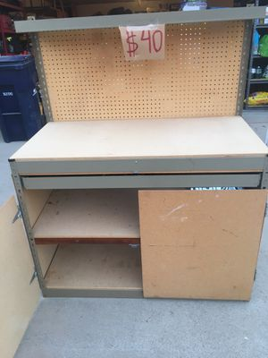 Work bench with drawer, shelves and peg board for Sale in Santa Maria, CA
