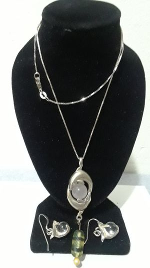 Sterling silver Vintage Dolphin Pendant necklace for Sale in Tampa, FL