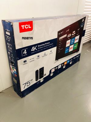 "75"" 4K TCL ROKU UHD HDR SMART LED TV 2160P TAX ALREADY INCLUDED FREE LOCAL DELIVERY TODAY! for Sale in Phoenix, AZ"