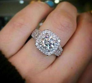 Stamped 925 Sterling Halo CZ Engagement Ring for Sale in Wichita, KS