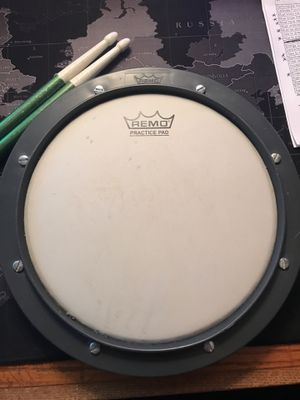 Remo Practicing Drum Pad with Drum Sticks Included for Sale in Warwick, RI