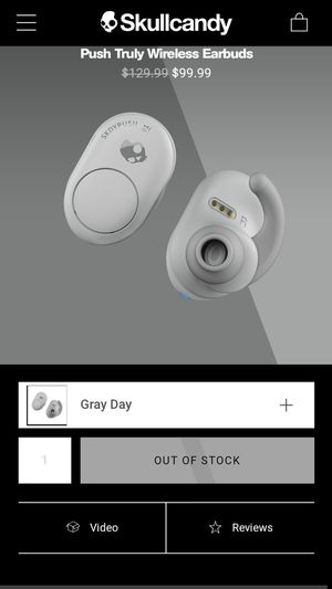 Skullcandy push wireless earbuds for Sale in Carmichael, CA