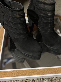G By Guess Black Suade Boot Heels for Sale in Chino,  CA