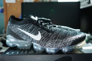 Nike Air Vapormax Flyknit 3 Black White Metallic Silver AJ6900 002 Men's Size 13 for Sale in Kissimmee, FL