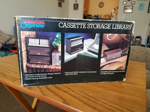 Classic cassette storage container. Hold 15. Still in box but it's worn over the years for Sale in Gassaway, WV