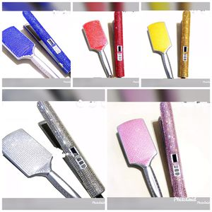 Blinged Out Ceramic Flat Iron and Bling Paddle Brush for Sale in Nottingham, MD