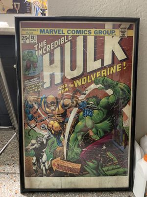 Hulk poster with frame for Sale in St. Petersburg, FL