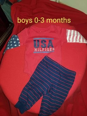 695afd1143 Boys HILFIGER onesie outfit for Sale in McDonough, GA