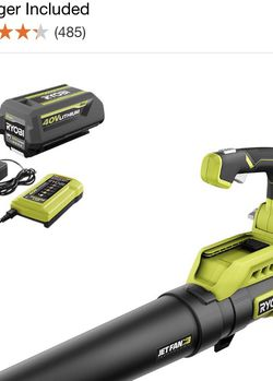RYOBI 110 MPH 525 CFM 40-Volt Lithium-Ion Cordless Variable-Speed Jet Fan Leaf Blower with 4.0 Ah Battery and Charger Included SLIGHTLY USED GOOD COND for Sale in Sloan,  NV