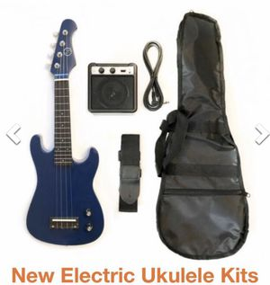 Electric guitar Ukulele with simple amp ( 4 colors available) for Sale in Los Angeles, CA