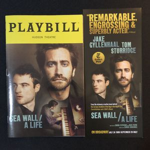 A Sea Wall / A Life Jake Gyllenhaal Broadway Musical Playbill for Sale in The Bronx, NY