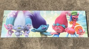 Trolls canvas painting- picture for Sale in Howey-in-the-Hills, FL