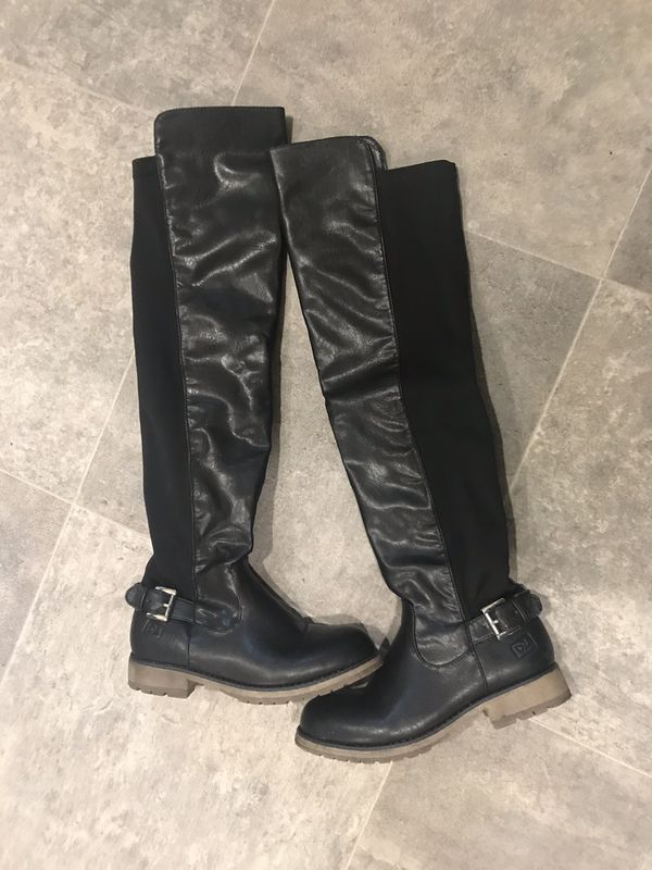 Over the Knee Black Boots Size 6