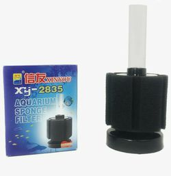 XINYOU XY-2835 40L Aquarium Fish Tank Sponge Filter - (Black) for Sale in San Antonio,  TX