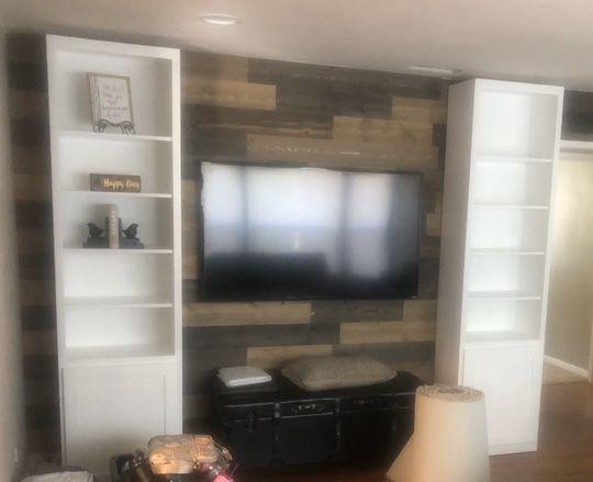 Custom Built Bookshelves /entertainment storage