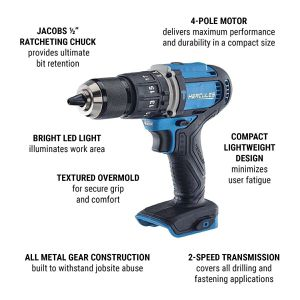HERCULES 20V Lithium Cordless 1/2 In. Compact Hammer Drill/Driver for Sale in Sacramento, CA