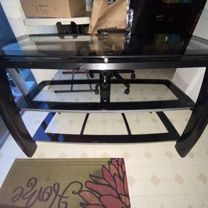 Glass TV Stand (great Condition) for Sale in San Jose, CA