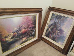 Thomas Kinkade Paintings - Full Lot of 7 for Sale in Fallbrook, CA