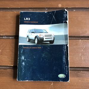 2005 LAND ROVER LR3 OWNERS MANUAL HANDBOOK 05 for Sale in Mauldin, SC