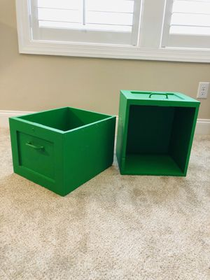 Two old-fashioned wooden food crates for Sale in Raleigh, NC