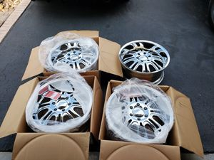 """20""""x9""""x32mm chrome rims 6x139.7mm pro comp brand new. for Sale in West York, PA"""