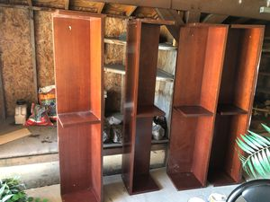 4 large wall mountable shelves or stack for Sale in Denver, CO