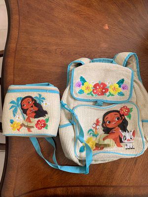 Disney's Moana Backpack & Lunchbox for Sale in Banning, CA