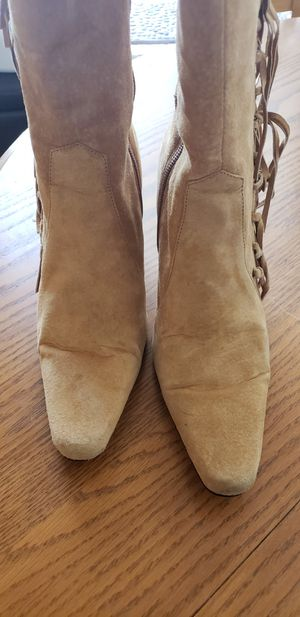 Genuine Suede Fringed Boots for Sale in Oceanside, CA