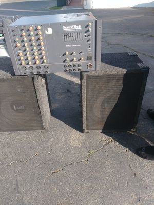 Stage speakers and amp for Sale in Fairfield, CA