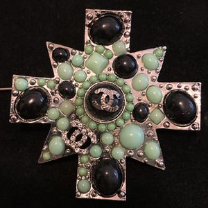 Green Pearls Silver Plated Brooch for Sale in Fremont, CA