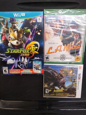 Video games lot Nintendo 3DS Wii U Xbox One New for Sale in Brandon, FL