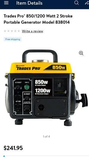 Trades Pro 850/1200 Watt 2 Stroke Portable Generator - 838014 for Sale in Renton, WA