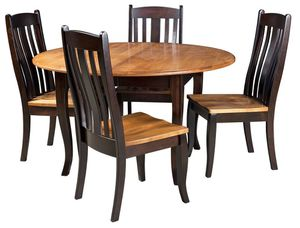 Solid Wood Dining Set with 3 chairs for Sale in Alexandria, VA