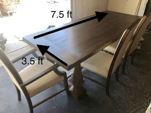 Large Dining room table and chairs set for Sale in Los Gatos, CA