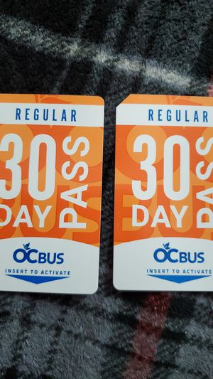 Brand new 30 day bus passes 50.00 each for Sale in Anaheim, CA