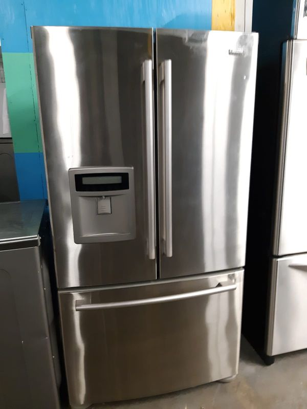 KENMORE STACKABLE WASHER COUNTER DEPTH FRENCH DOORS FRIDGE IN EXCELLENT CONDITION