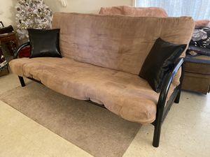 Futon with decorative pillows for Sale in Virginia Beach, VA