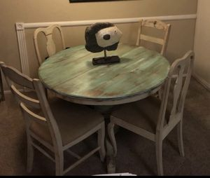 Custom Coastal Dining Table with Chairs for Sale in Newport Beach, CA