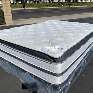Queen Golden Rest Bamboo Hybrid Gel Mattress & Box Spring for Sale in Hacienda Heights, CA
